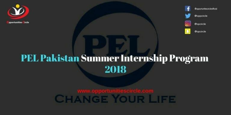 PEL Pakistan Summer Internship