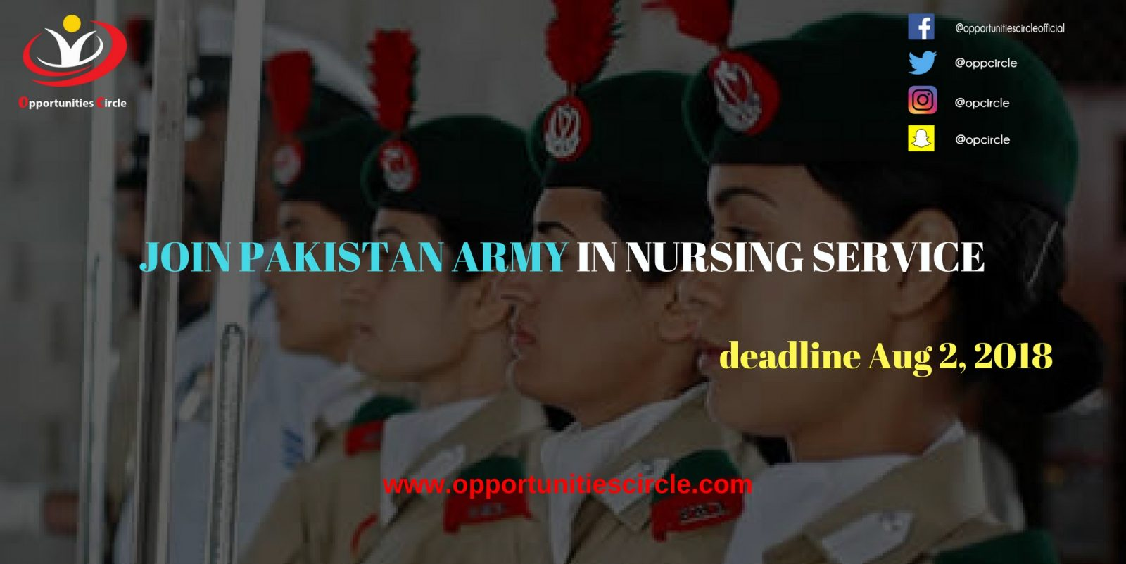 JOIN PAKISTAN ARMY IN NURSING SERVICE - Opportunities Circle