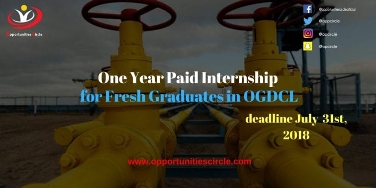 One Year Paid Internship for Fresh Graduates in OGDCL
