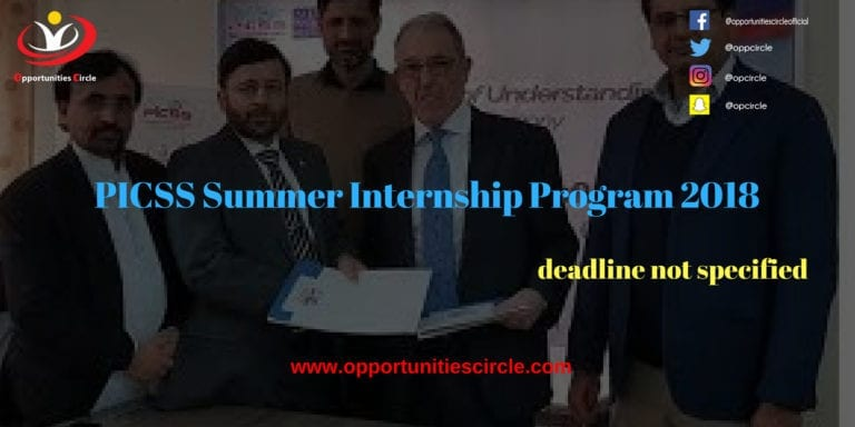 PICSS Summer Internship Program