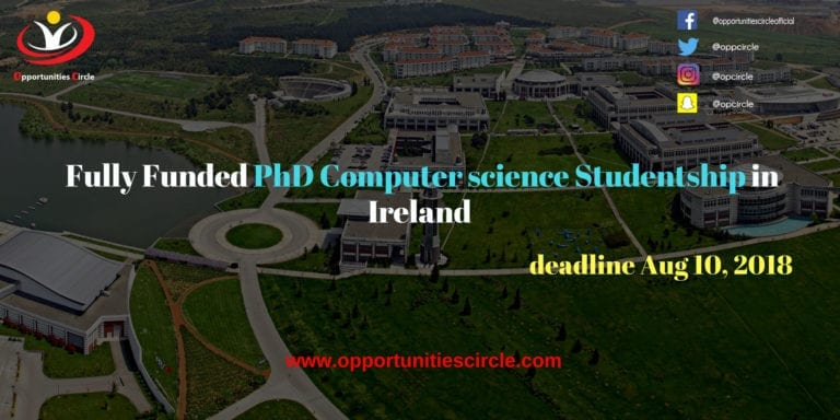 Fully Funded PhD Computer science Studentship in Ireland