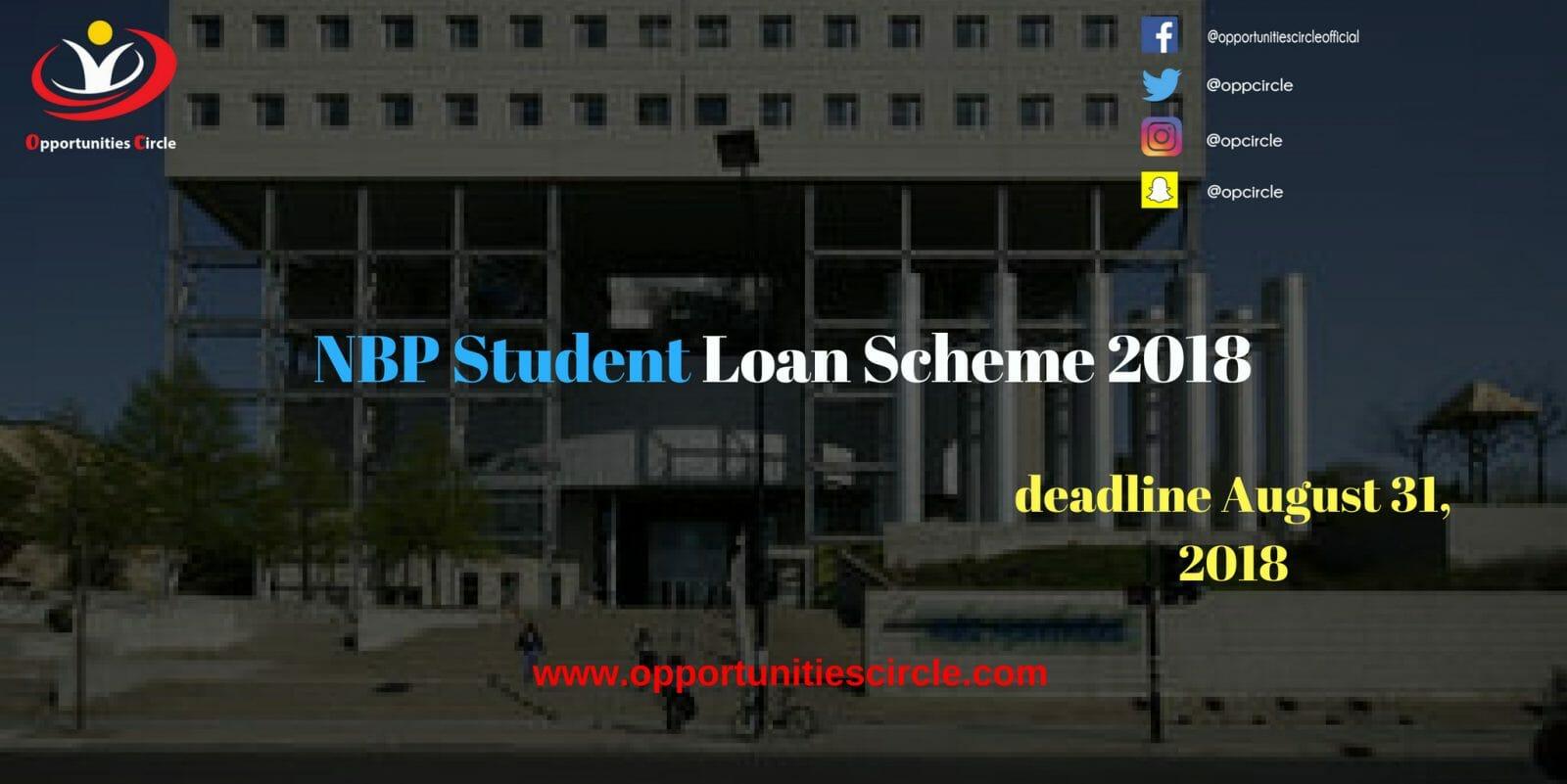 national bank of pakistan student loan 2018 list