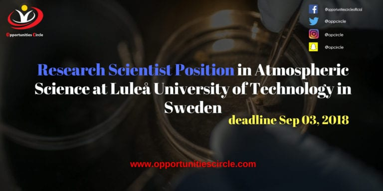 Research Scientist Position