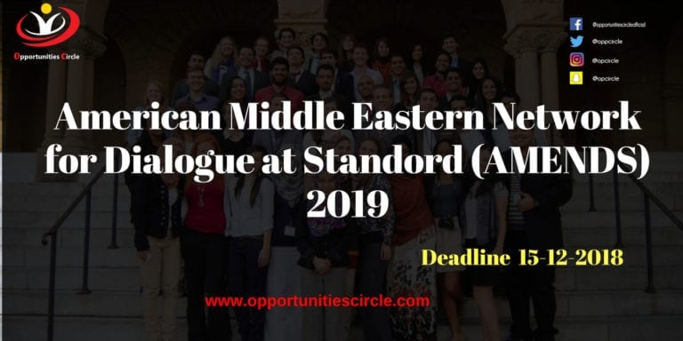 American Middle Eastern Network for Dialogue at Standord AMENDS 2019 768x384 - American Middle Eastern Network for Dialogue at Standord (AMENDS) 2019