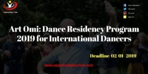 Dance Residency Program 2019 for International Dancers 300x150 - Art Omi: Dance Residency Program 2019 for International Dancers (Fully-funded)