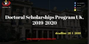 Doctoral Scholarships Program UK 2019 2020 300x150 - Doctoral Scholarships Program UK, 2019-2020