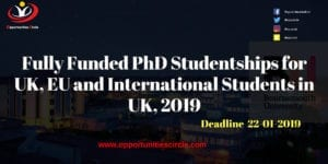 Fully Funded PhD Studentships 300x150 - Fully Funded PhD Studentships for UK, EU and International Students in UK, 2019