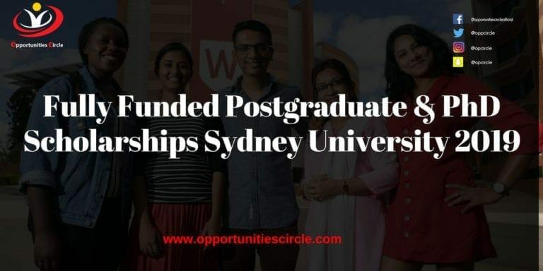 Fully Funded Postgraduate & PhD Scholarships