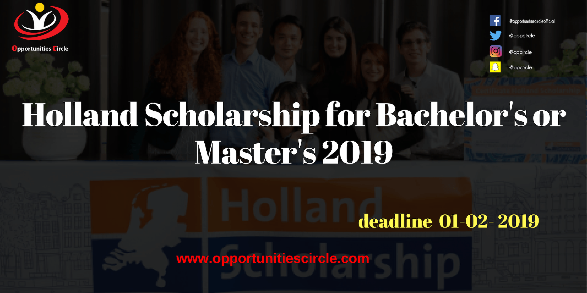 Holland Scholarship for Bachelors or Masters 2019 - Holland Scholarship for Bachelor's or Master's 2019