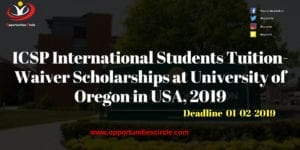 ICSP Scholarships at University of Oregon in USA 2019 300x150 - ICSP International Students Tuition-Waiver Scholarships at University of Oregon in USA, 2019