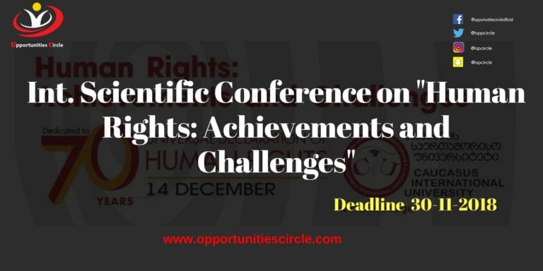 """Int Scientific Conference on Human Rights Achievements and Challenges 768x384 - Int. Scientific Conference on """"Human Rights: Achievements and Challenges"""""""