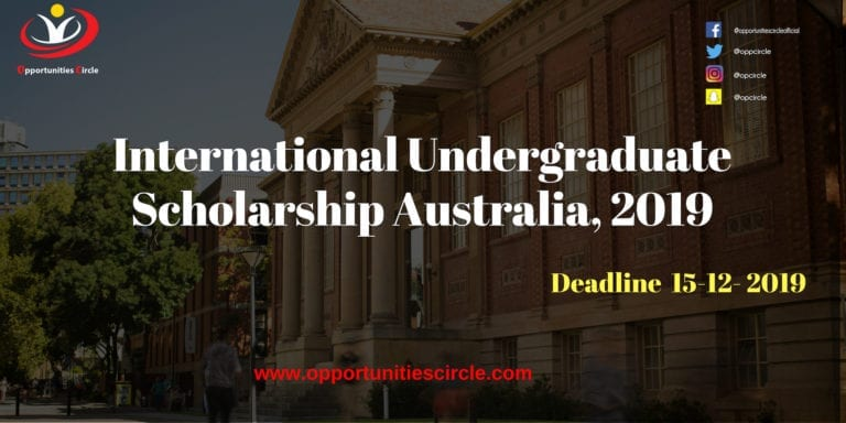 international undergraduate scholarship australia