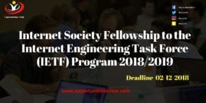 Internet Society Fellowship to the Internet Engineering 300x150 - Internet Society Fellowship to the Internet Engineering Task Force (IETF) Program 2018/2019
