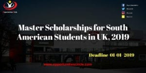 Master Scholarships 300x150 - Master Scholarships for South American Students in UK, 2019