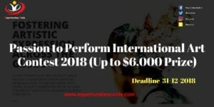 Passion to Perform International Art Contest 2018 300x150 - Passion to Perform International Art Contest 2018 (Up to $6,000 Prize)