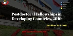 Postdoctoral Fellowships in Developing Countries