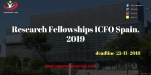 Research Fellowships ICFO Spain