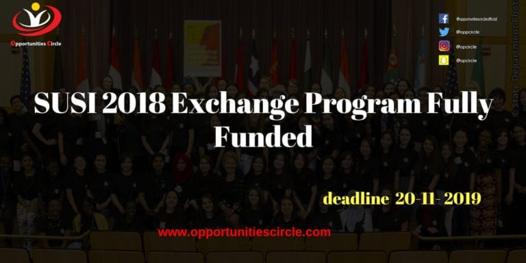 SUSI 2018 Exchange Program Fully Funded - Opportunities Circle