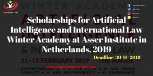 Scholarships for Artificial Intelligence and International Law Winter Academy at Asser Institute in Netherlands 2019 300x150 - Scholarships for Artificial Intelligence and International Law Winter Academy at Asser Institute in Netherlands, 2019