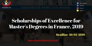 Scholarships of Excellence for Master 300x150 - Scholarships of Excellence for Master's Degrees in France, 2019