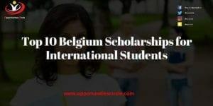 Top 10 Belgium Scholarships