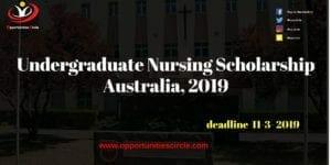 Undergraduate Nursing Scholarship Australia
