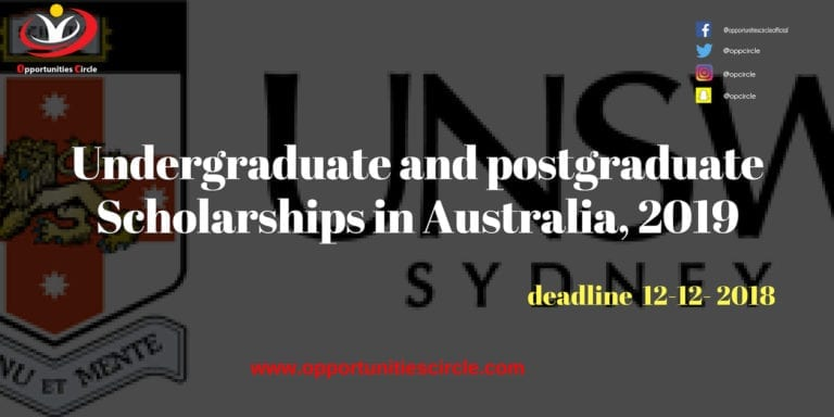 undergraduate and postgraduate scholarships in australia