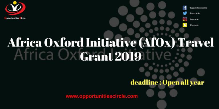 Africa Oxford Initiative (AfOx) Travel Grant 2019