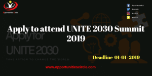 Apply to attend UNITE 2030 Summit 2019 300x150 - Apply to attend UNITE 2030 Summit 2019