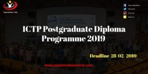 ICTP Postgraduate 300x150 - ICTP Postgraduate Diploma Programme 2019 for Young Scientists (Fully-funded)