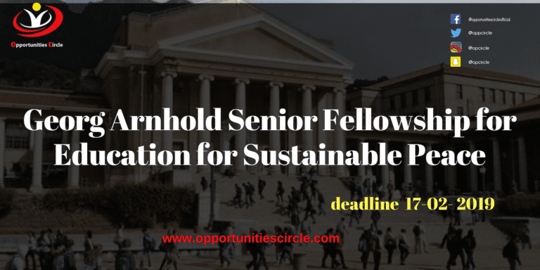 Georg Arnhold Senior Fellowship for Education for Sustainable Peace