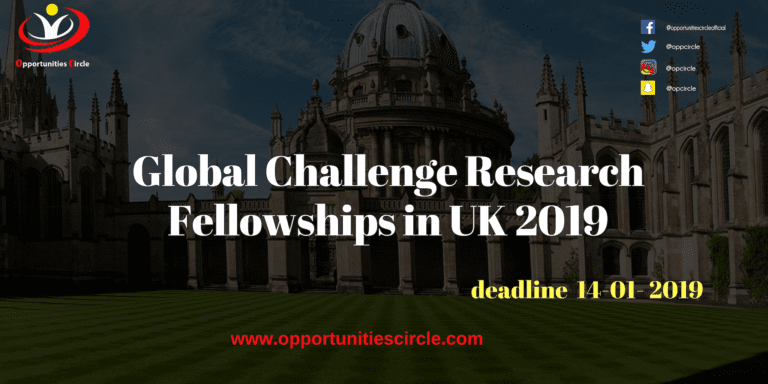 Islamic Relief Pakistan Internship 2019 1 768x384 - Global Challenge Research Fellowships in UK 2019