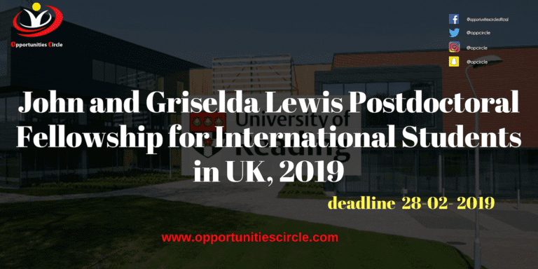 Islamic Relief Pakistan Internship 2019 2 1 768x384 - John and Griselda Lewis Postdoctoral Fellowship for International Students in UK, 2019