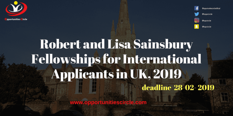 Islamic Relief Pakistan Internship 2019 4 1 768x384 - Robert and Lisa Sainsbury Fellowships for International Applicants in UK, 2019