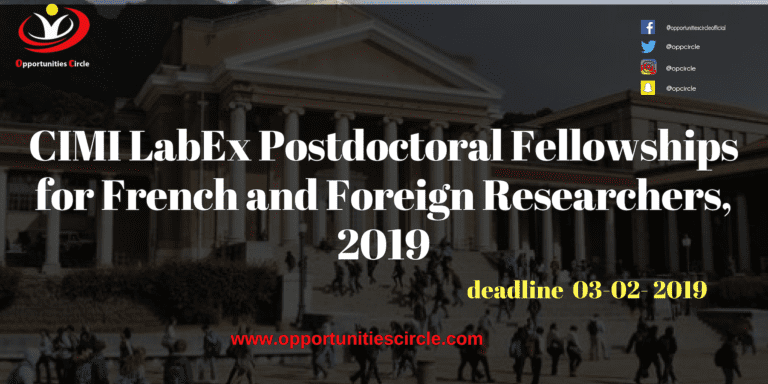 Islamic Relief Pakistan Internship 2019 4 768x384 - CIMI LabEx Postdoctoral Fellowships for French and Foreign Researchers, 2019