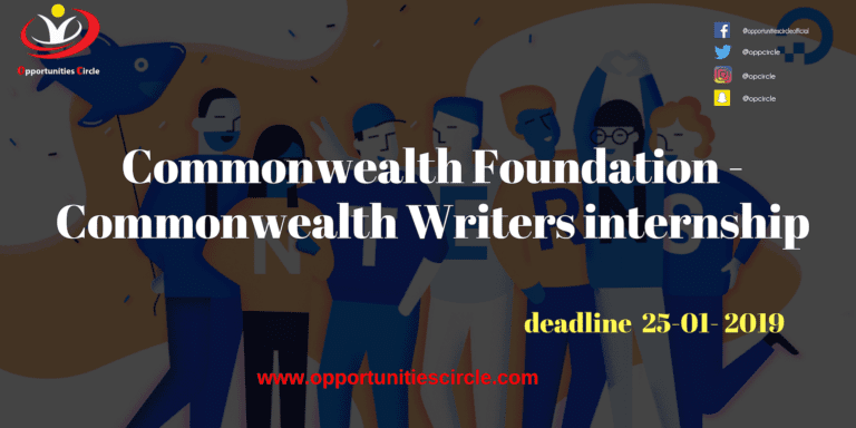 Commonwealth Foundation - Commonwealth Writers internship