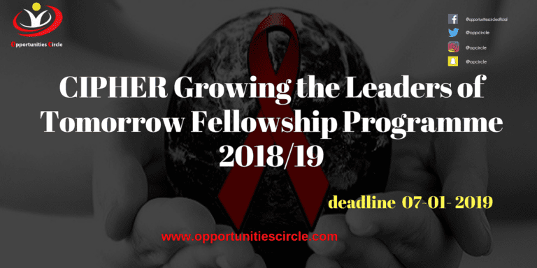 Islamic Relief Pakistan Internship 2019 5 768x384 - CIPHER Growing the Leaders of Tomorrow Fellowship Programme 2018/19