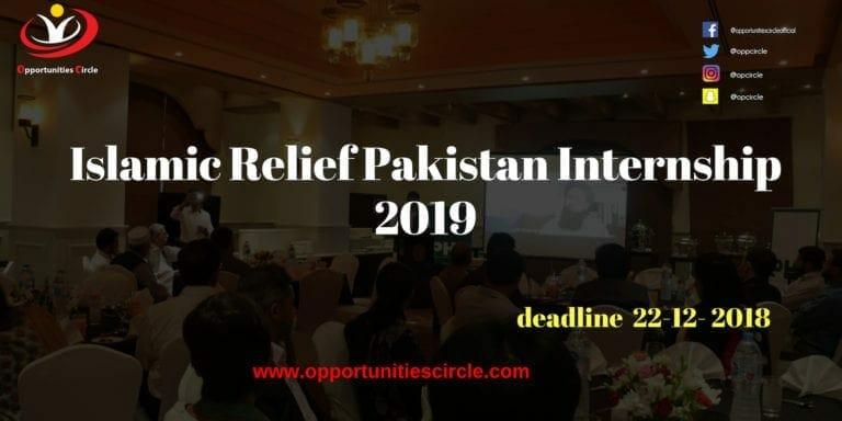 Islamic Relief Pakistan Internship 2019