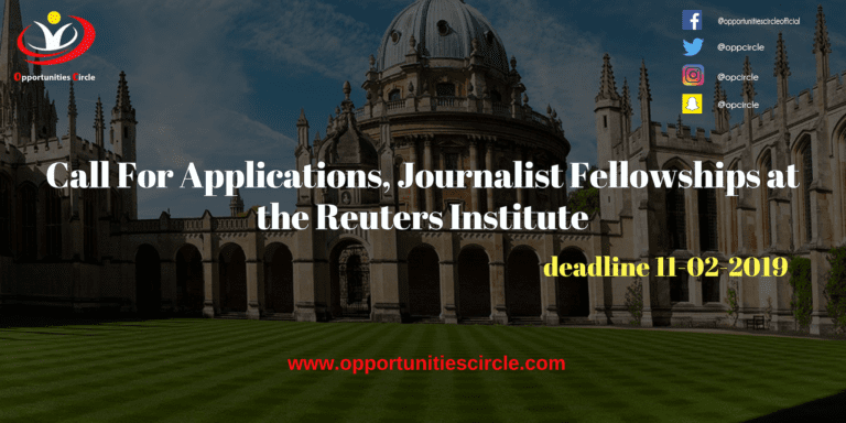 Italy University of Udin PhD Scholarships 2018 3 768x384 - Call For Applications, Journalist Fellowships at the Reuters Institute