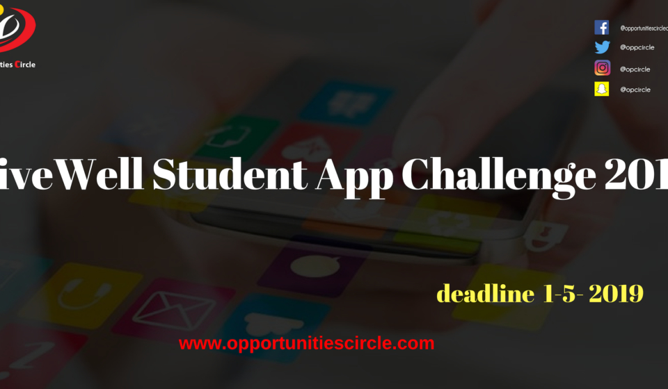 LiveWell Student App Challenge 2019