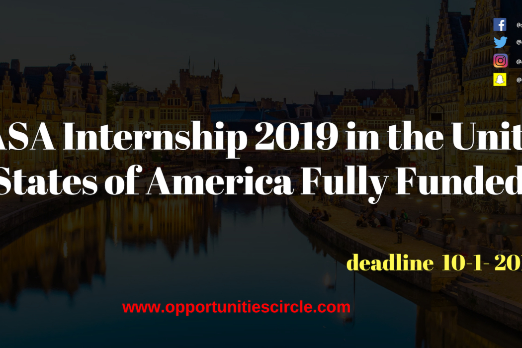 NASA Internship 2019 in United States of America Fully Funded