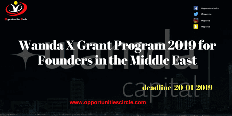Wamda X Grant Program 2019 for Founders in the Middle East