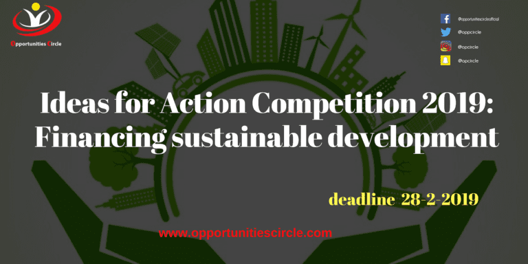 Ideas for Action Competition 2019: Financing sustainable development
