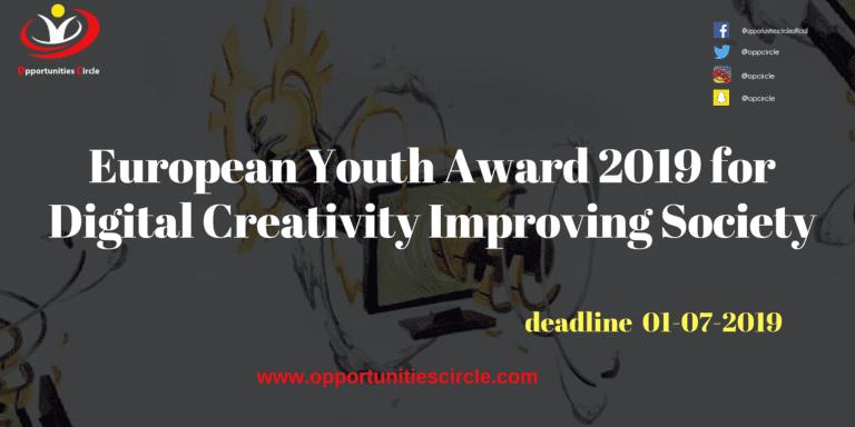 European Youth Award 2019 for Digital Creativity Improving Society