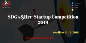 SDGsHer Competition 2019 300x150 - Opportunities Circle Scholarships, Fellowships, Internships, Jobs