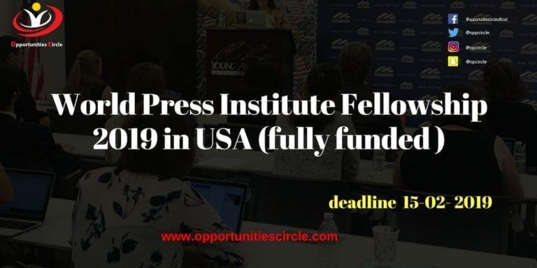 World Press Institute Fellowship 2019 in USA