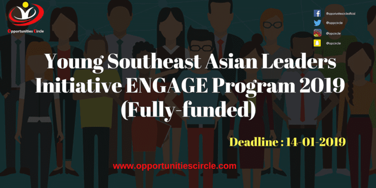 Young Southeast Asian Leaders Initiative ENGAGE Program 2019