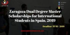 Zaragoza Dual 300x150 - Zaragoza Dual Degree Master Scholarships for International Students in Spain, 2019