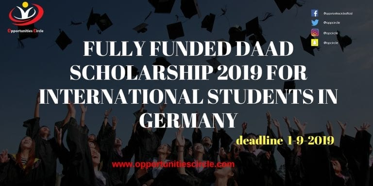FULLY FUNDED DAAD SCHOLARSHIP 2019 FOR INTERNATIONAL STUDENTS IN GERMANY