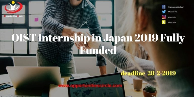 OIST Internship in Japan 2019 Fully Funded